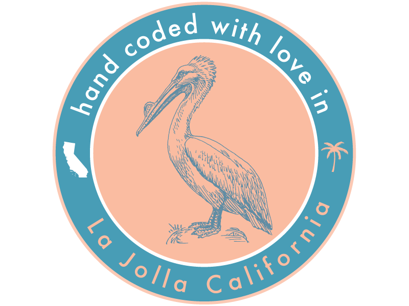 hand coded with love in la jolla california by visual rhythm dribbble