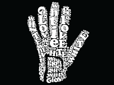 White Glove typography illustration michaeljackson mj whiteglove michael jackson