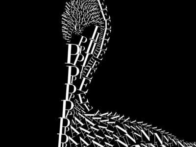 Pelican pelican font animal fontanimal bodoni illustration la jolla