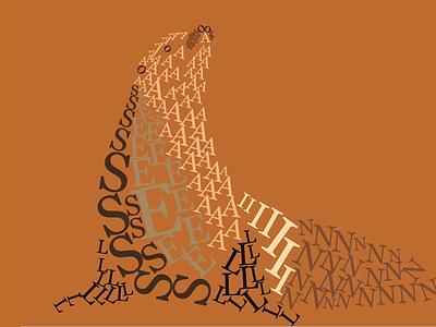 Sea Lion #fontanimal sea lion animals font illustration la jolla