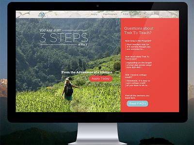 New Trek To Teach Website nepal ux ui website