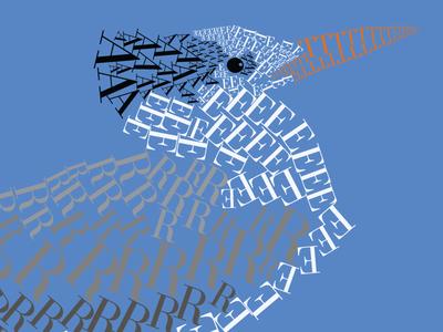 Royal Tern - FontAnimal (detail) fontanimal illustration typography royal tern