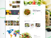 Vegan food Landing page