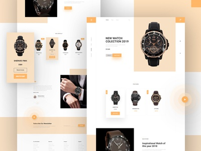 Watch - Landing Page minimal web product product page homepage design typogaphy blog jewelry luxury ecommerc web design ui  ux watch ui product landing page watches watch landing page