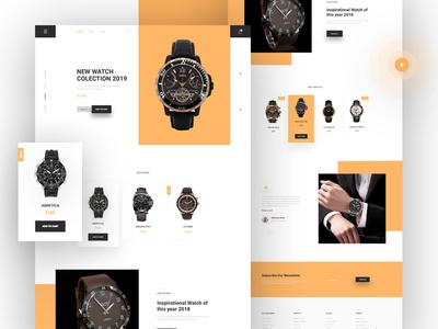 Product Landing Page typography landing page ui ux design clean web design website watch ui webdesign web watch os watches ui ux product page product landing page product minimal landing page jewelry watch homepage design
