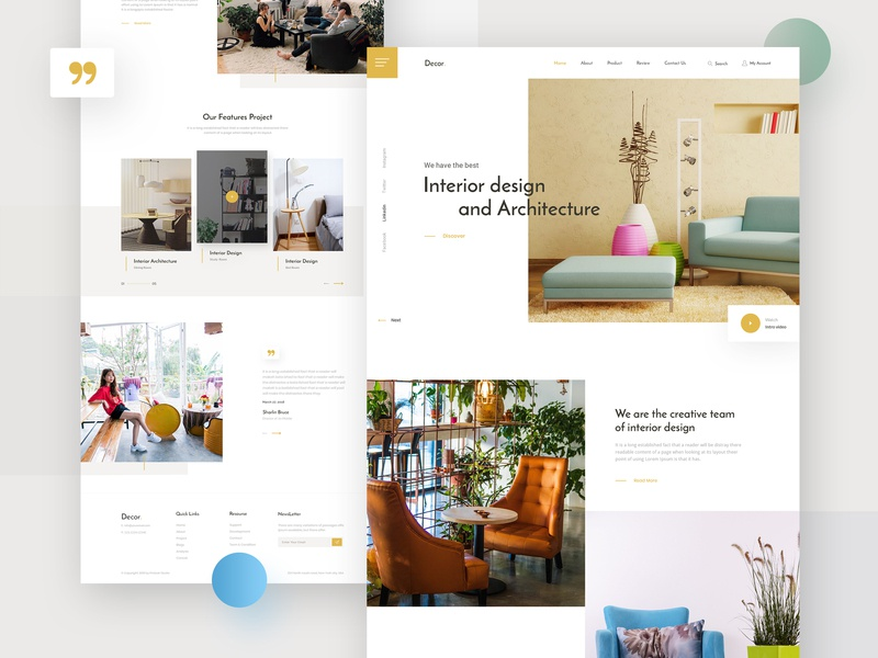 Interior Design- Landing Page by Saiful Khan for