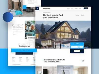 Real Estate Landing Page minimal buy sell typogaphy property management real estate agency home agent management business website ux ui rentals mortgage properties property interior architecture house home real estate