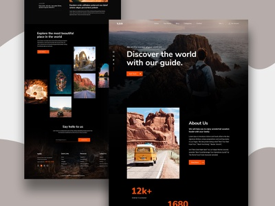 Travel Landing Page website concept web landing page ui ux design hotel booking agency typogaphy webdesign clean minimal hotel website beach vacation homestay landing page ui travel guide travel tour