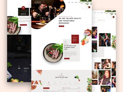 Food Restaurant Website Design