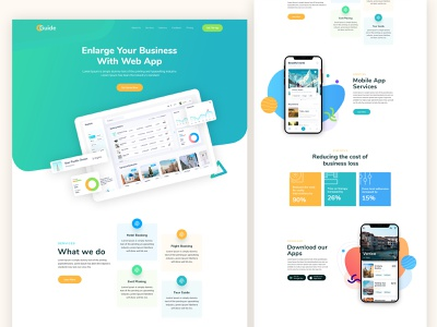 Sass Landing Page web app landing page illustration portfolio agency branding minimal clean product landing page typography website webdesign business mobile app saas app web app sketch saas business landing page ui ui landing page