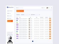Dashboard Support Page