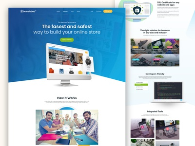 Sass Business Website Home page