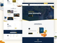 Healthcare Product Website Home Page
