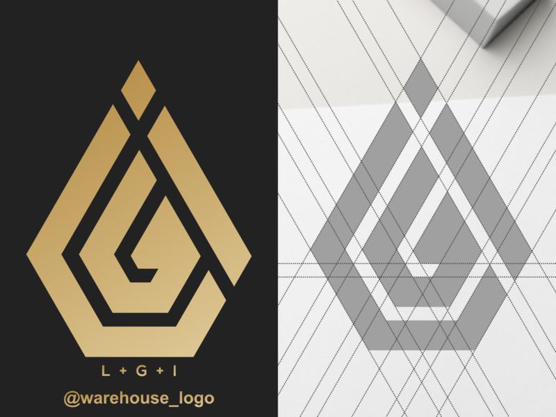 lgi logo circle monogram i g l ig gi lg lgi ui logo font initials identity icon designispiration graphicdesigner design brandmark branding