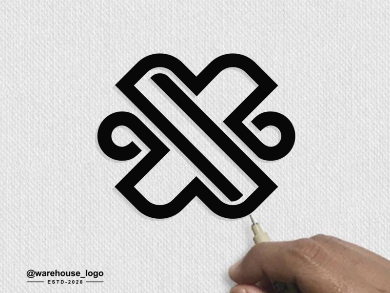 letter x logo idea love monogram symbol vector brand identity x awesome logoawesome logo abstract illustration font initials identity icon designispiration graphicdesigner design brandmark branding