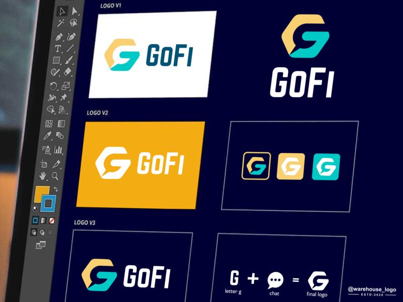 gofi logo dribbble company brand identity symbol awesome gofi chat g monogram abstract illustration font initials identity icon designispiration graphicdesigner design brandmark branding
