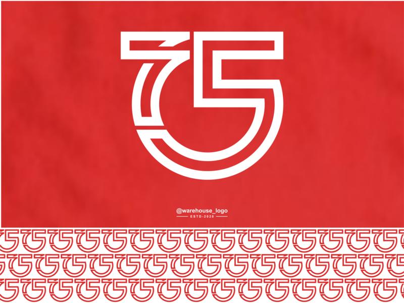 75 logo idea symbol number awesome brand identity merdeka indonesia 5 7 57 75 illustration font initials identity icon designispiration graphicdesigner design brandmark branding