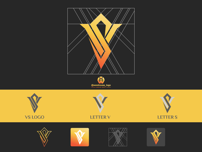 VS logo design template company branding design awesome s v vs brand identity monogram logo abstract illustration font initials icon identity graphicdesigner designispiration design brandmark branding