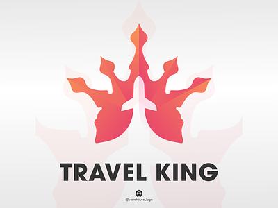 travel king logo design template logoinspirations monogram logos logotype logo design treveling travelking king travel logo illustration font initials icon identity graphicdesigner designispiration design brandmark branding