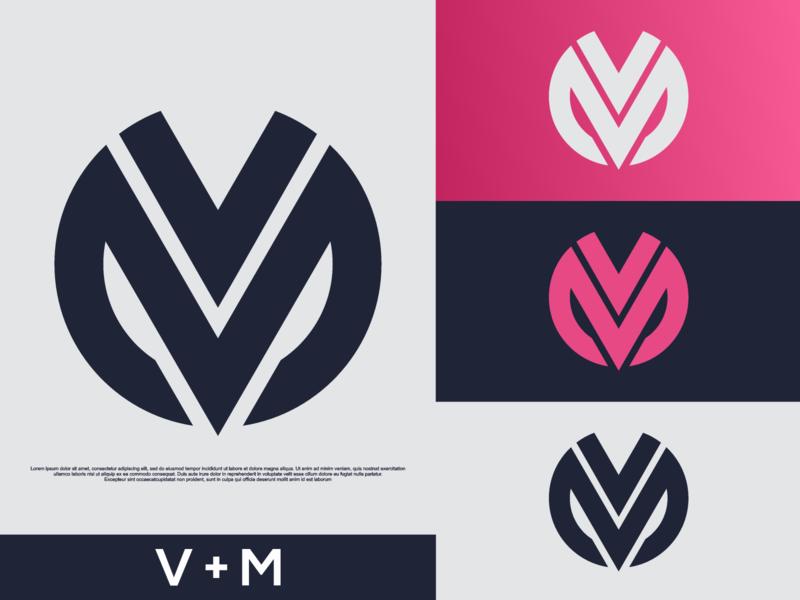 VM LOGO abstract font initials vm logoispiation illustration identity icon graphicdesigner esportlogo esport designispiration design brandmark branding