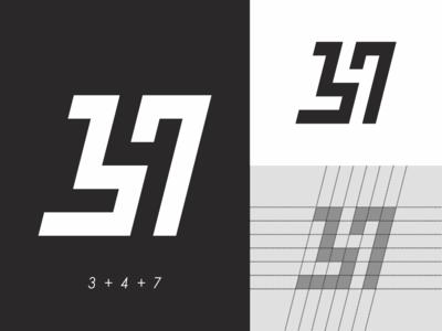 347 abstract logo