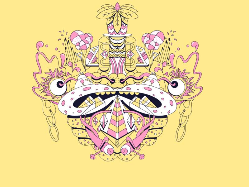 Lips geometric abstract procreateapp illustration