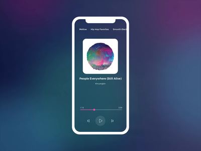 Drag And Drop It Like It's Hot waveform motion music player music mobile app drag and drop animation mobile