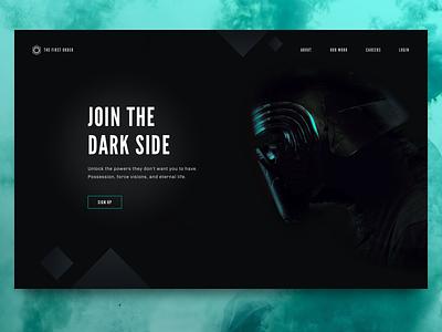 Join The Dark Side dark side star wars dark ui landing page sign up daily ui