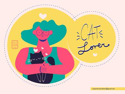 Cat Lover app flat web illustration illustrator cc ilustradora ilustración digital ux design vector diseño ilustración