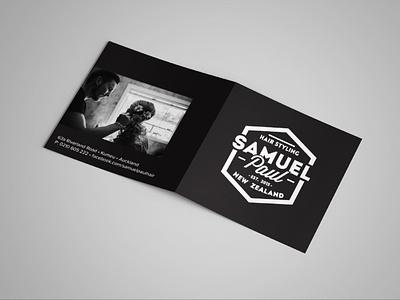 Gift voucher design for Samuel Paul by Simply Whyte Design design graphic design gift card hairdresser gift voucher