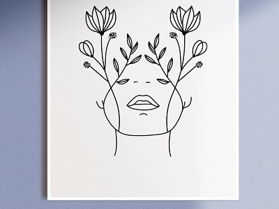 Line Art Illustration by Simply Whyte Design line art minimal design graphic design digital digital art vector illustration
