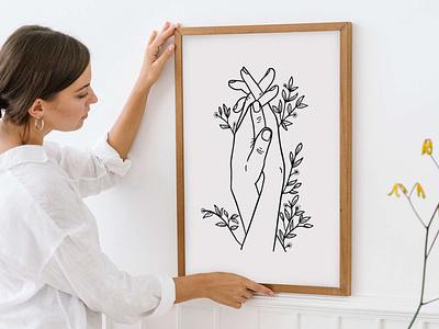 Line Art Illustration by Simply Whyte Design minimal vector digital art digital design graphic design illustration