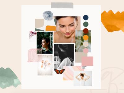 Mood Board for Quietly Confident by Simply Whyte Design mood board branding logo digital digital art graphic design design