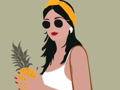 Tropical Fashion Woman by Simply Whyte Design minimal illustration vector digital digital art graphic design design