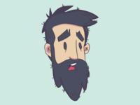 Illustration 🚀 Scared Beard