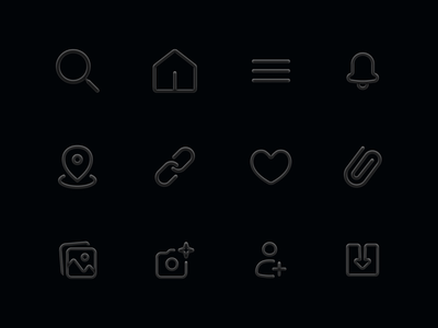 Minimal Matt Finish 3-D icons