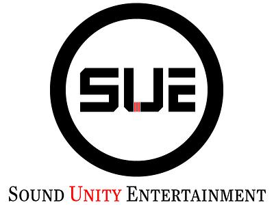Sound Unity Entertainment logo concept-2 music marks logo featured logo designer welogodesigner digital red color entertainment black color logo