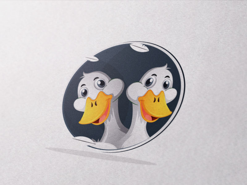 Duck Head minimal clean brand flat type icon identity vector logo illustration branding design