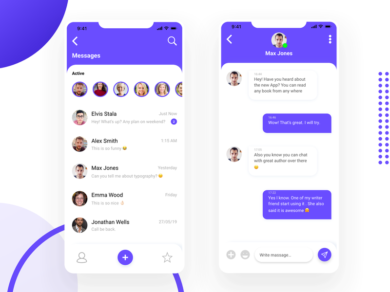 Chat UI design graphic design ios animation website vector ux ui typography mobile minimal logo illustration identity icon flat design clean branding brand app