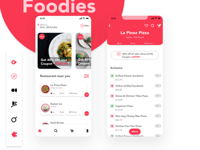 Online food delivery mockup