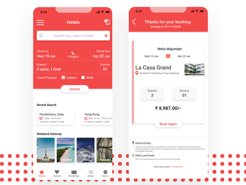 Hotel booking Mockup mobile app travel travel app hotel booking hotel app mobile design flat mobile ui logo graphic design mobile minimal icon clean design branding brand app ux ui