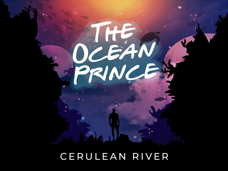 Ocean prince brush branding illustration design album cover