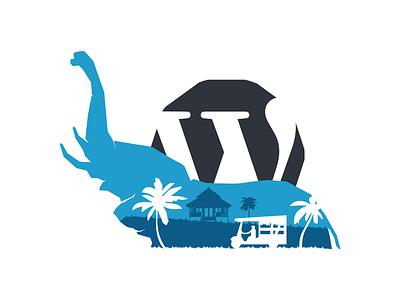 Thailand elephant illustration wordpress design wordcamp wordpress elephant thailand