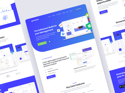 SaaS Software Landing Page 2019 trend application design website webdesign uidesign ui software saas landing page saas product platform landing page landingpage inspiration homepage features dashboad app agency