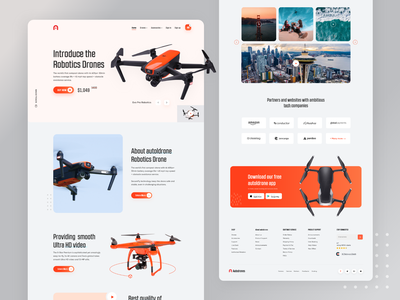 Product Landing Page Exploration website design website concept website webdesign web ui ux design ui ux ui exploration trend popular shot devignedge landing page homepage design dribbble best shot product page agency website agency web design agency landing page drone 2020 trends