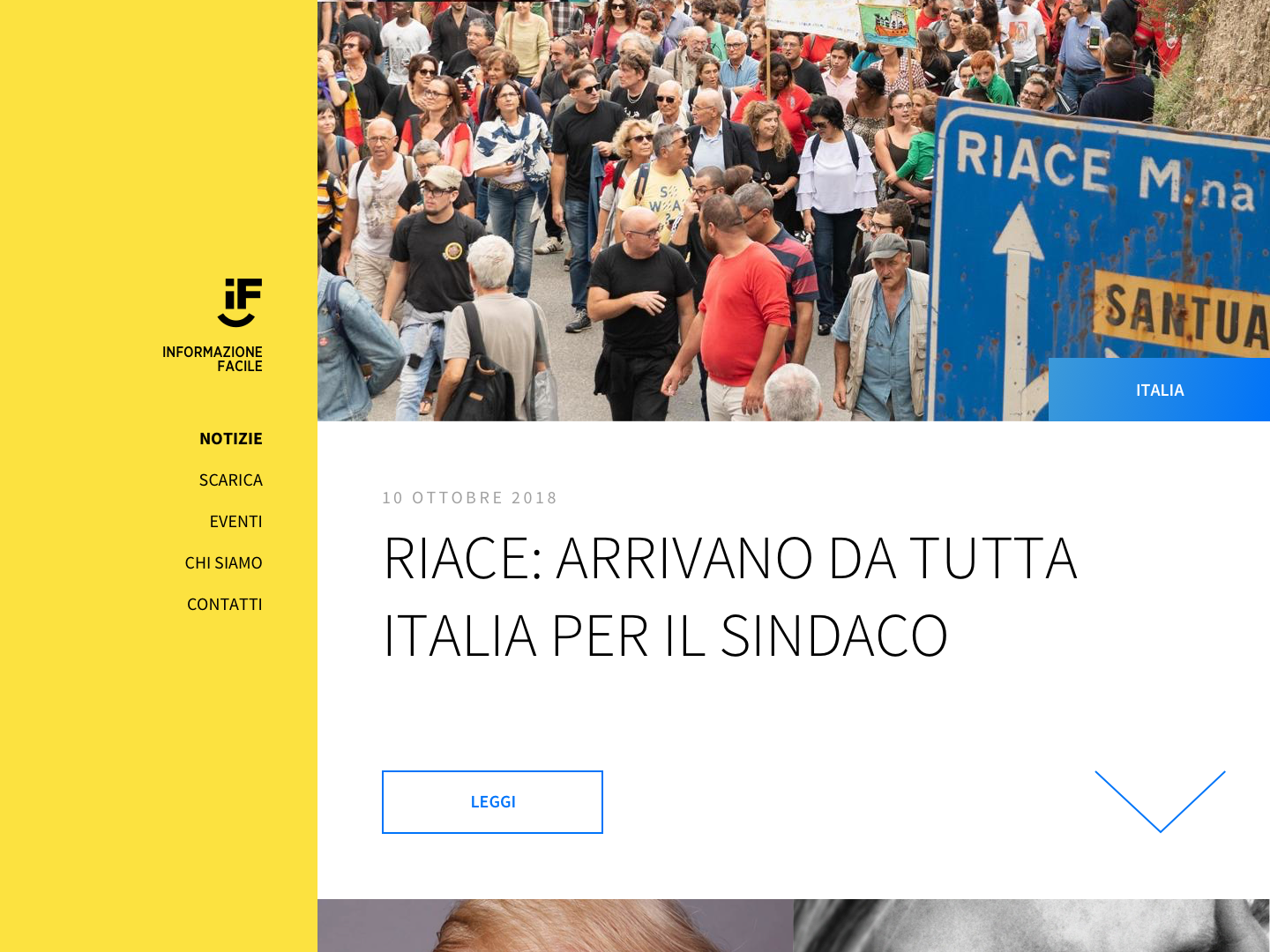 Informazione Facile - Website wordpress blog theme ui ux accessibility