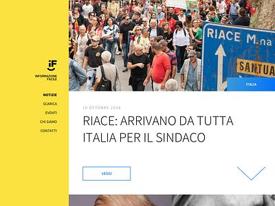 Informazione Facile - Website wordpress blog theme ui ux accessibility
