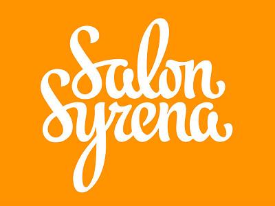 SalonSyrena logotype lettering calligraphy