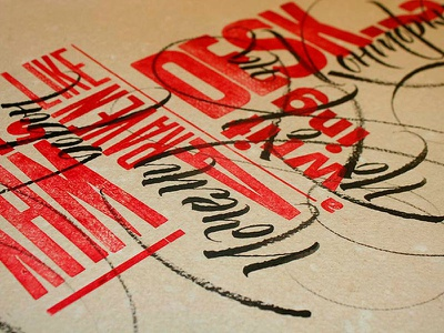 «Why is a raven like a writing desk?» lewis carroll letterpress logotype lettering calligraphy