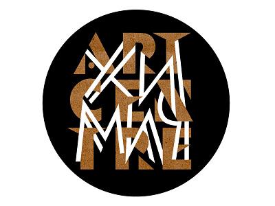 "Logo for Art-Centre ""ХИМИЧ"" avantgardefont ukrainianlogo ukrainianlettering lettering letters logotype ukrainiangallery logo"